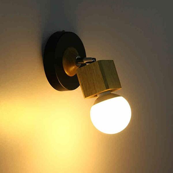 Đèn treo tường phòng ngủ bằng gỗ- Đèn tường