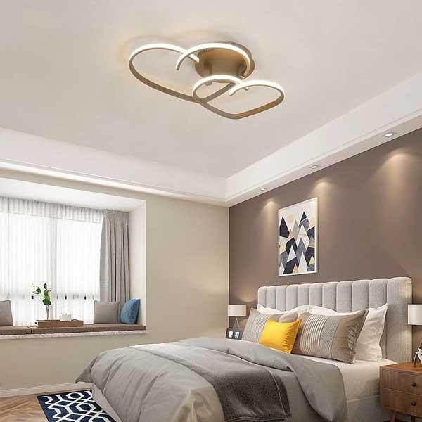 Đèn mâm ốp trần trang trí phòng khách trái tim