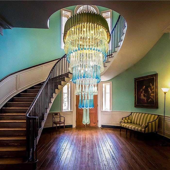 Đèn thả thông tầng hiện đại - Đèn thả thông tầng cầu thang- Đèn Thả Thông Tầng