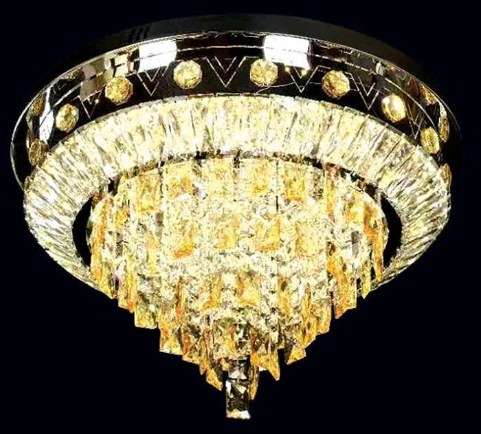 Đèn trần phòng khách - Đèn ốp trần phòng khách dạng hắt sáng- Đèn Ốp Trần