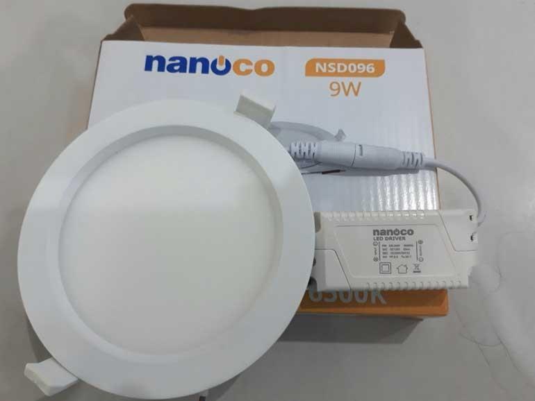 Đèn LED âm trần 9W Nanoco - Đèn LED downlight 9W Nanoco- Đèn LED âm trần