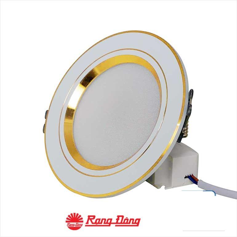 Đèn LED trang trí âm trần 3 màu - Đèn LED âm trần 3 màu 7wRạng Đông- Đèn âm trần