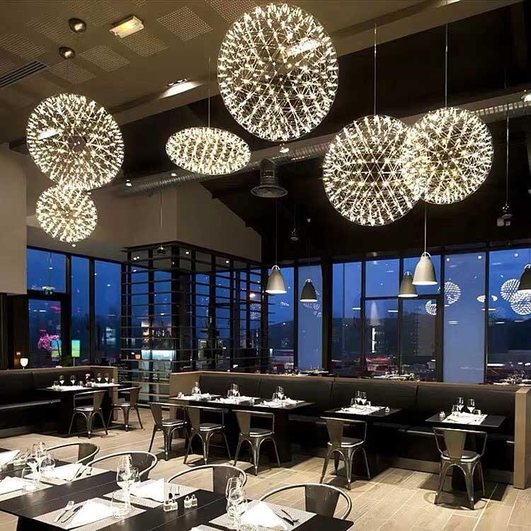 Đèn phòng ăn hiện đại hình cầu nến