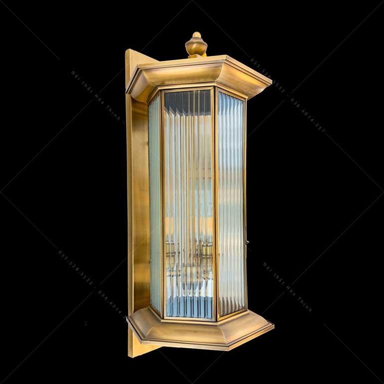 Đèn treo tường đồng trang trí ngoại thấtHTML-B5158-3