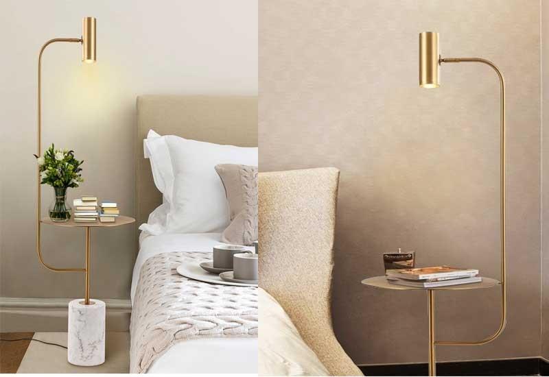 Đèn cây trang trí phòng khách nhỏ gọn - Đèn cây đứng nhỏ gọn trang trí phòng khách đơn giản