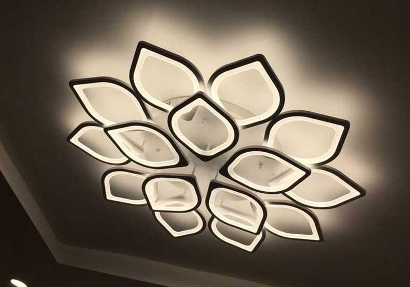 Đèn trang trí phòng kháchốp trần đơn giản - Đèn Ốp Trần