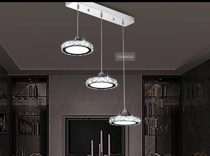 đèn chùm đơn giản cho phòng khách