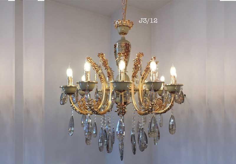 Đèn trang trí phòng khách đơn giản cổ điển - Đèn trang trí chùm phòng khách nhỏ cổ điển