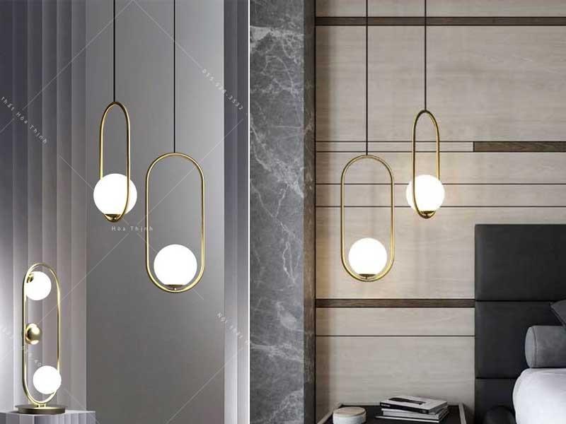 Đèn LED thả trần trang trí phòng khách mặt trăngHTDT - Đèn thả trần