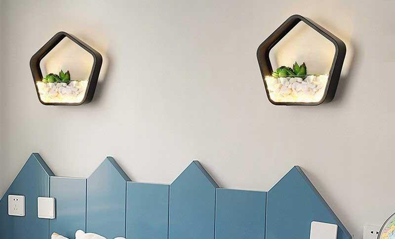 Đèn phòng khách đẹp ốp tường