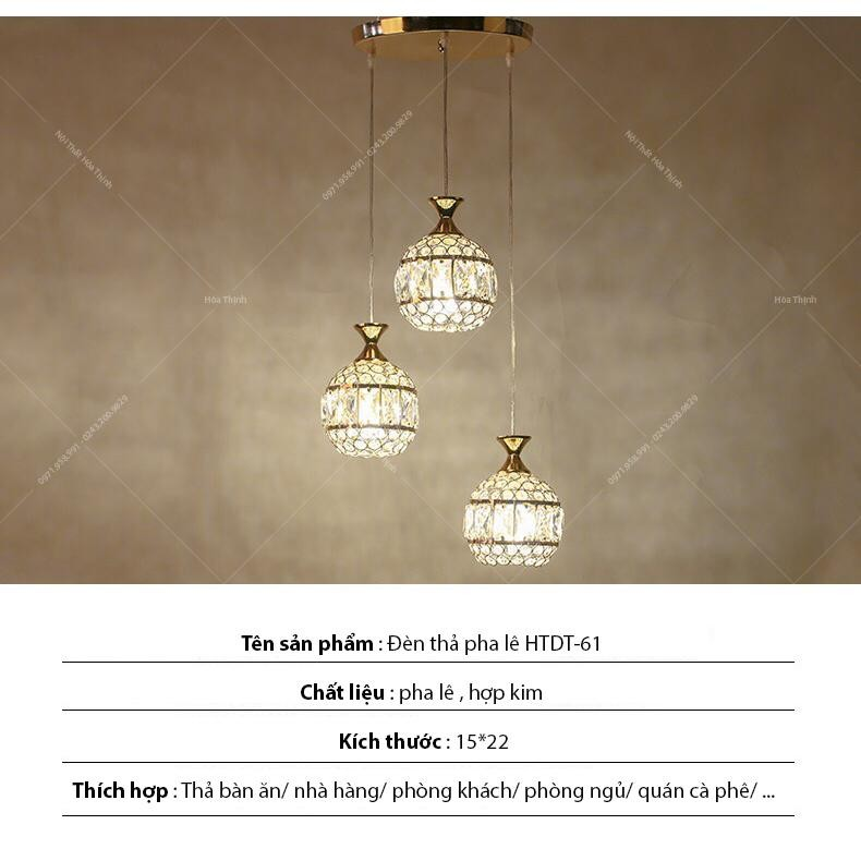 Đèn thả pha lê HTPL-36 | Ảnh 7