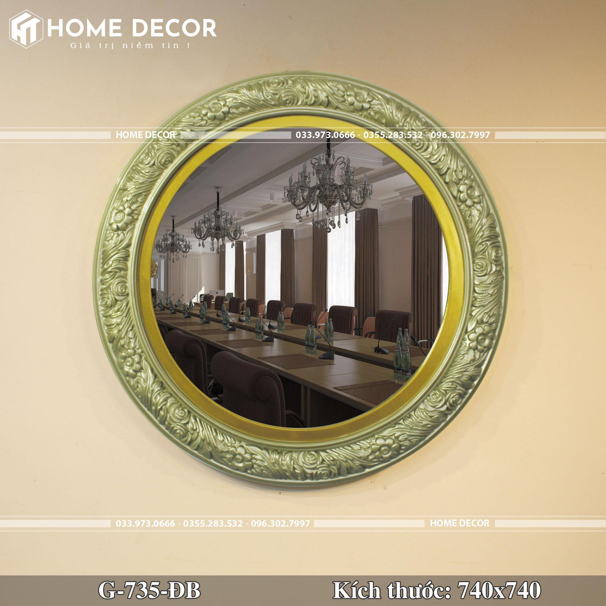 Gương decor HTG-735-ĐB