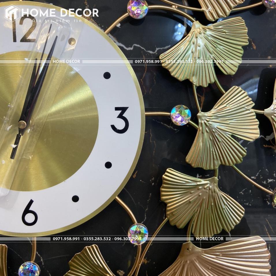 đồng hồ decor hình lá