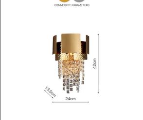 đèn treo tườngphòng ngủ pha lê HTOT-10