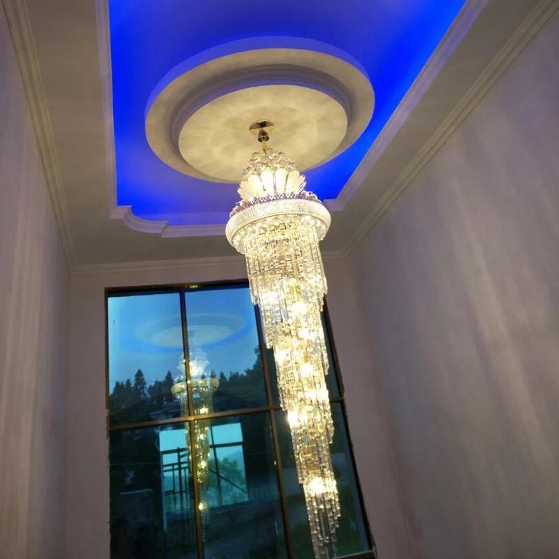 đèn thả thông tầng phòng khách