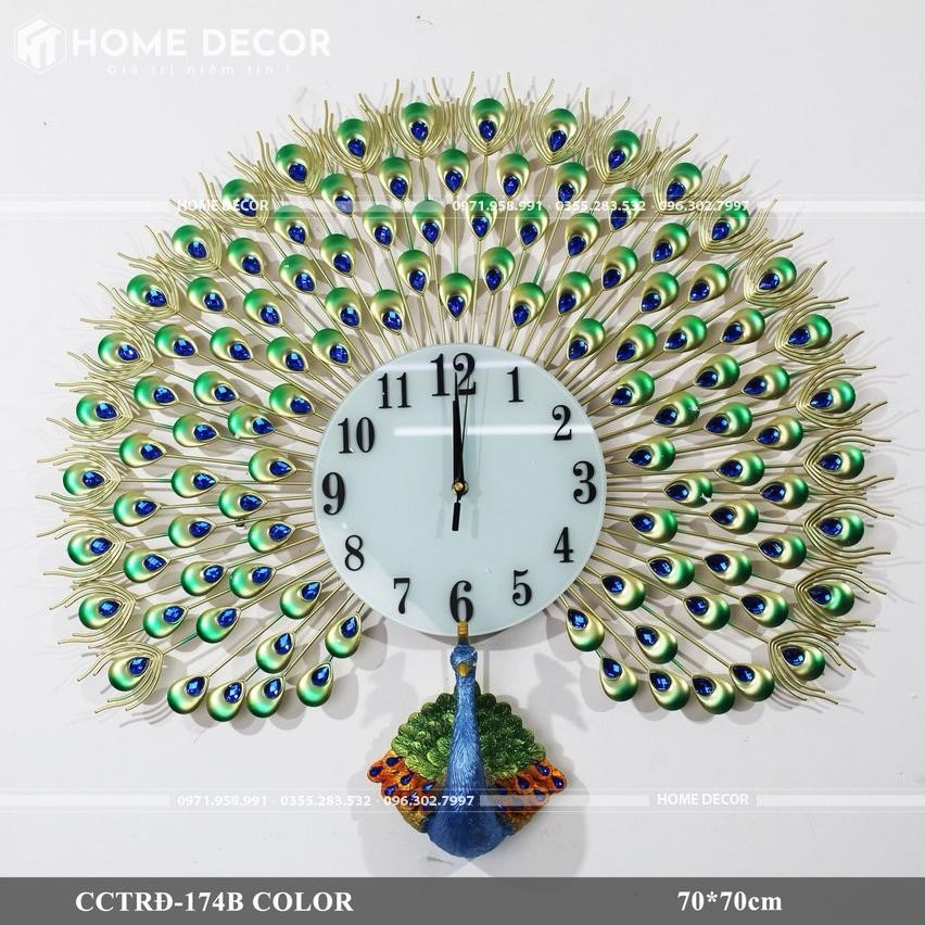 đồng hồ decor HT-174B COLOR