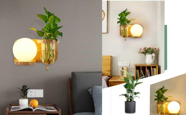 đèn gỗ trang trí