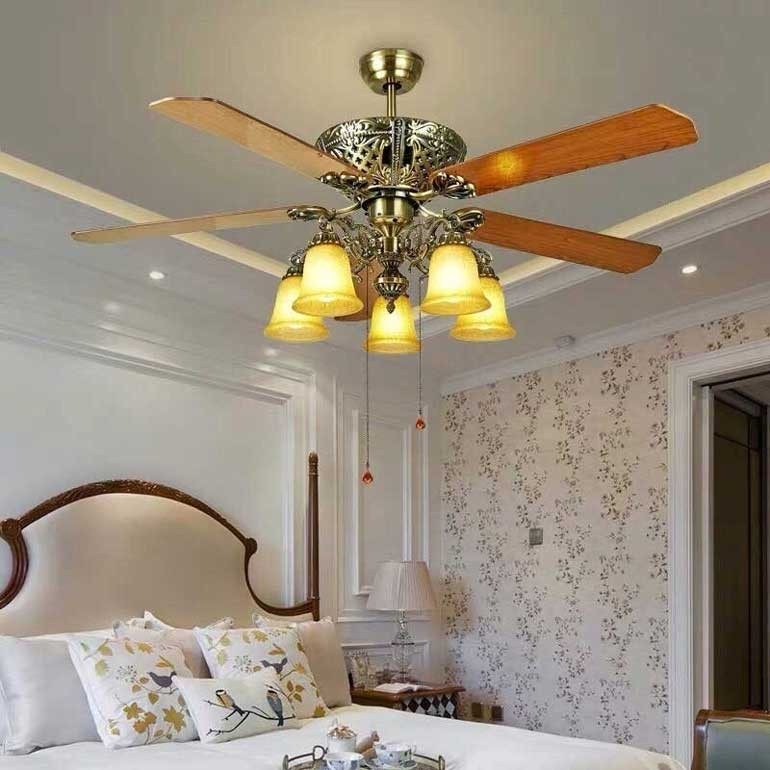đèn trang trí trần nhà bằng gỗ