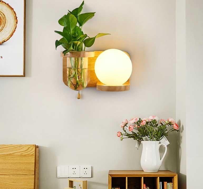 đèn trang trí bằng gỗ