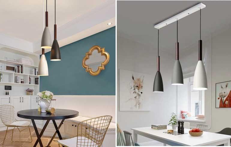 Đèn trang trí phòng khách nhà cấp 4 giá rẻ - Đèn thả trang trí phòng khách nhà cấp 4 phong cách hiện đại