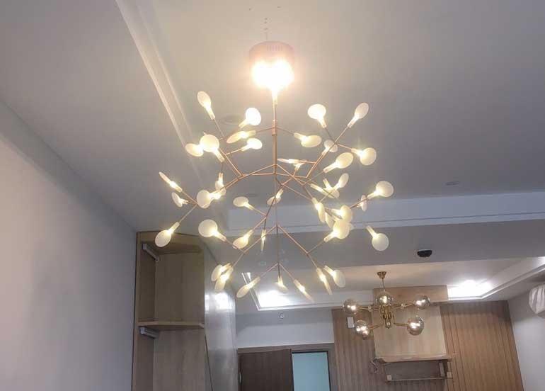 Mẫu đèn LED trang trí phòng khách chung cư - Đèn trang trí phòng khách chung cư Hera