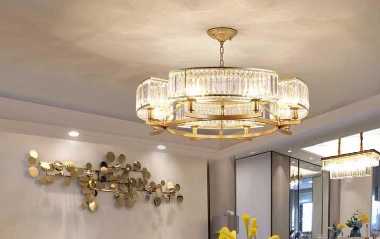 đèn trần phòng khách chung cư