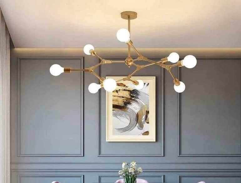 Đèn trang trí phòng khách chung cư đơn giản - Đèn phòng khách chung cư hiện đại