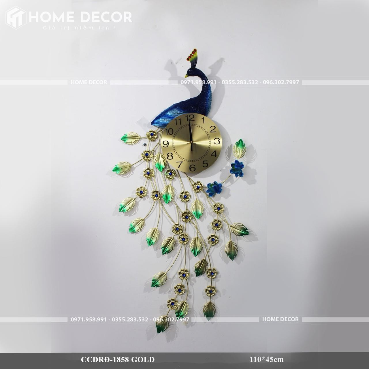 đồng hồ decor HT-1858 GOLD
