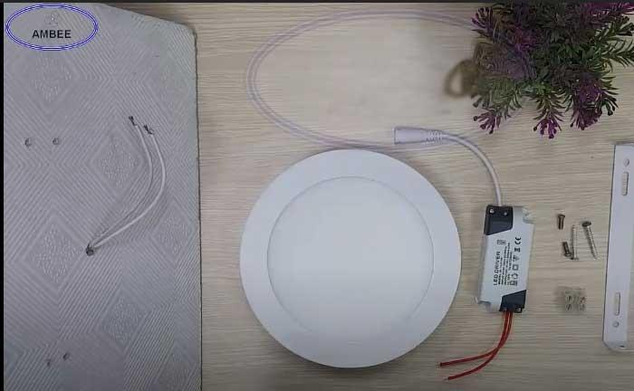 cách lắp đèn led ốp trần nổi