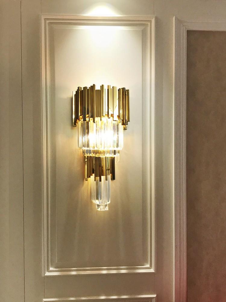 đèn treo tường đẹp pha lê HTOT-24