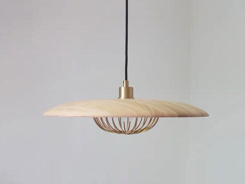 Quạt trần đèn cánh gỗ HT-16