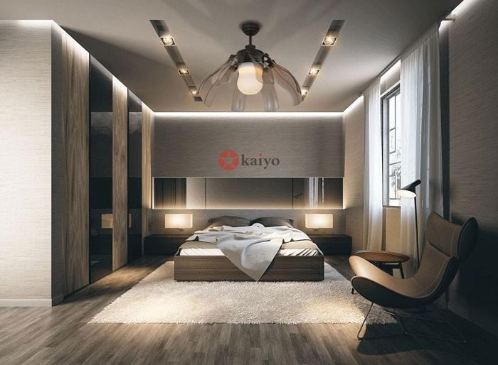 quạt trần đèn trang trí phòng ngủ