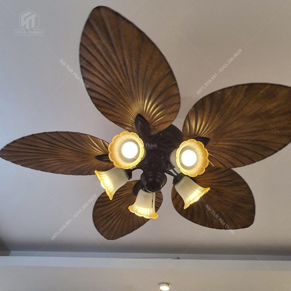 đèn quạt trần cánh lá HTQ-36