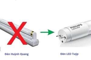 Có nên thay đèn huỳnh quang bằng đèn LED, so sánh đèn LED và đèn huỳnh quang