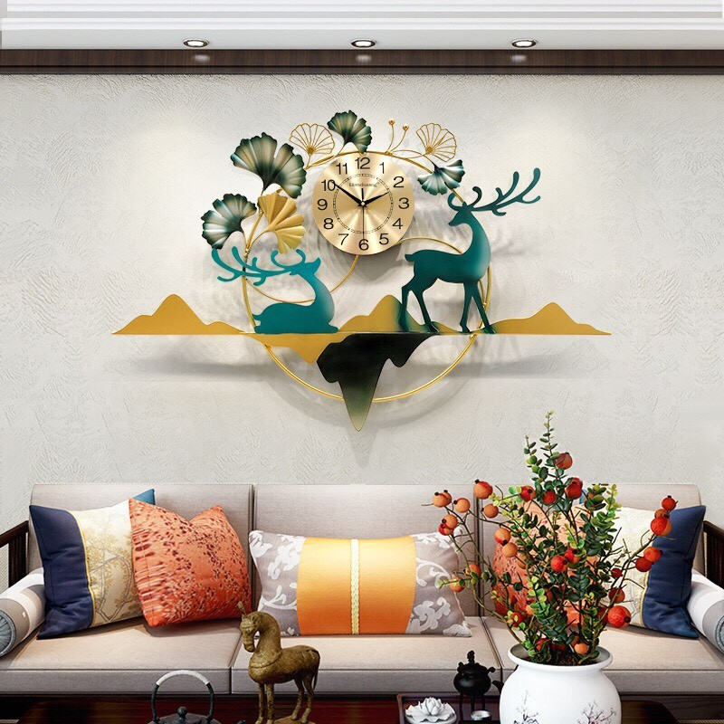 đồng hồ treo tường decor HTTDH-120HN