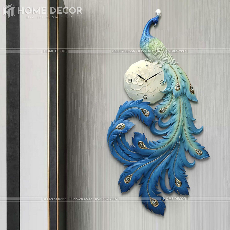 Đồng hồ Khổng Tước bột gốm cao cấp HTDH-G32