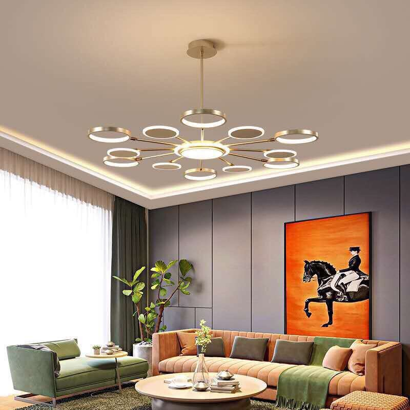 Đèn thả trần phòng khách hiện đại