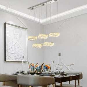 Top 10 mẫu đèn thả pha lê cao cấp trang trí phòng khách hiện đại