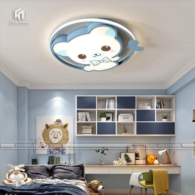 đèn ốp trần gấu xanh
