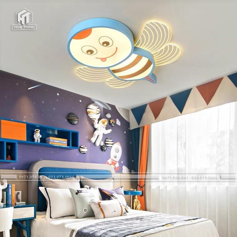 Đèn trẻ em ong xanh trang trí phòng bé trai