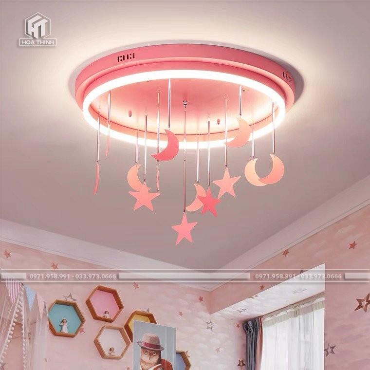 Đèn ốp trần phòng trẻ em sao hồng
