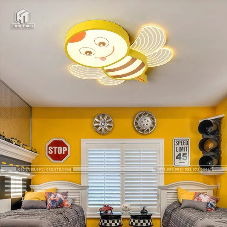 Đèn ngủ cho bé gái hình ong vàng