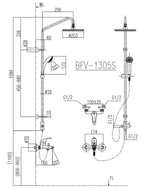 ban-ve-sen-cay-inax-bfv-1305s