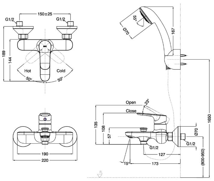 ban-ve-voi-inax-BFV-1403S-4C