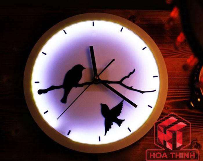 Đèn ngủ treo tưởng kết hợp với đồng hồ