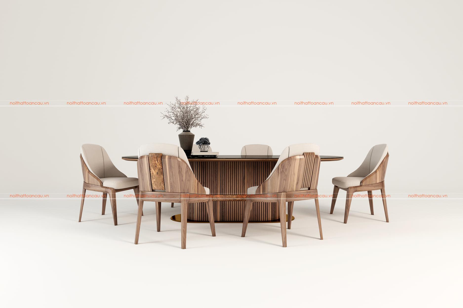 Bộ Bàn ghế ăn gỗ óc chó TC801
