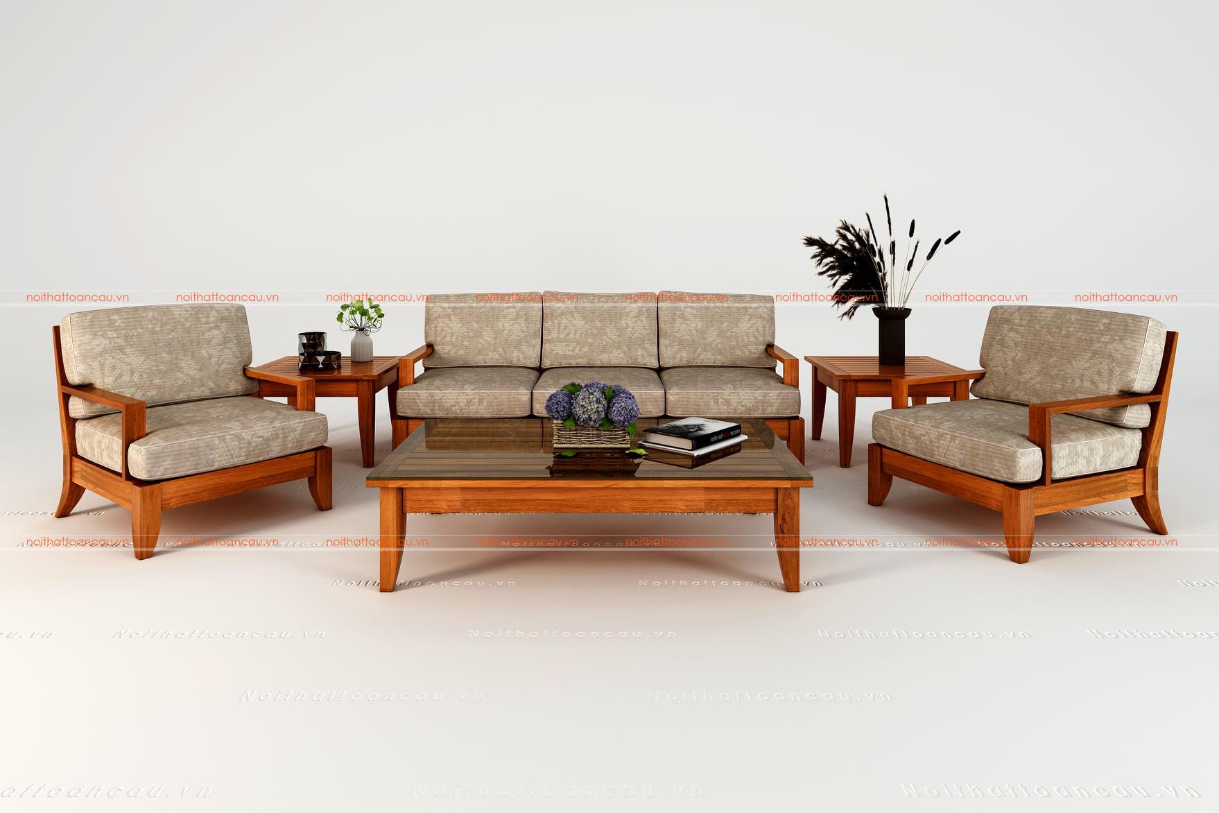 Bàn ghế gỗ gõ đỏ 19