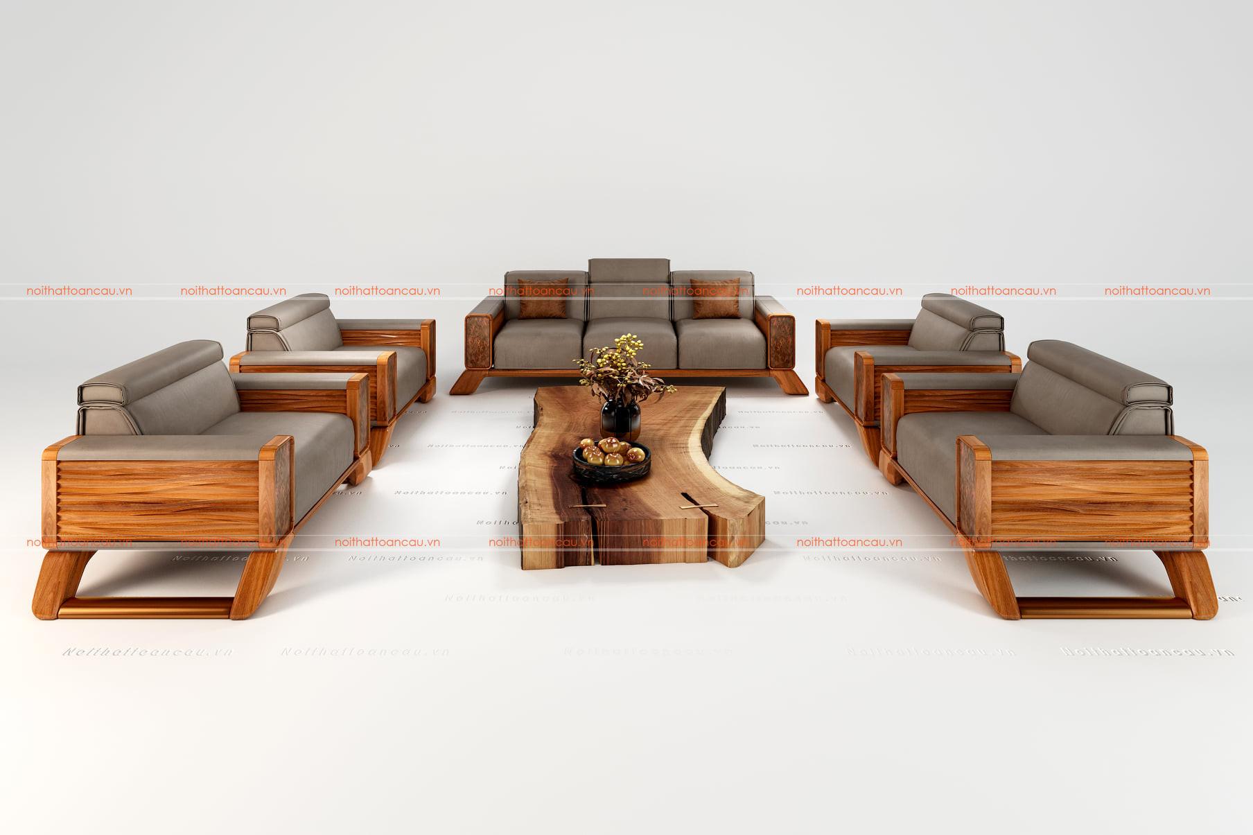Bàn ghế gỗ gõ đỏ 1
