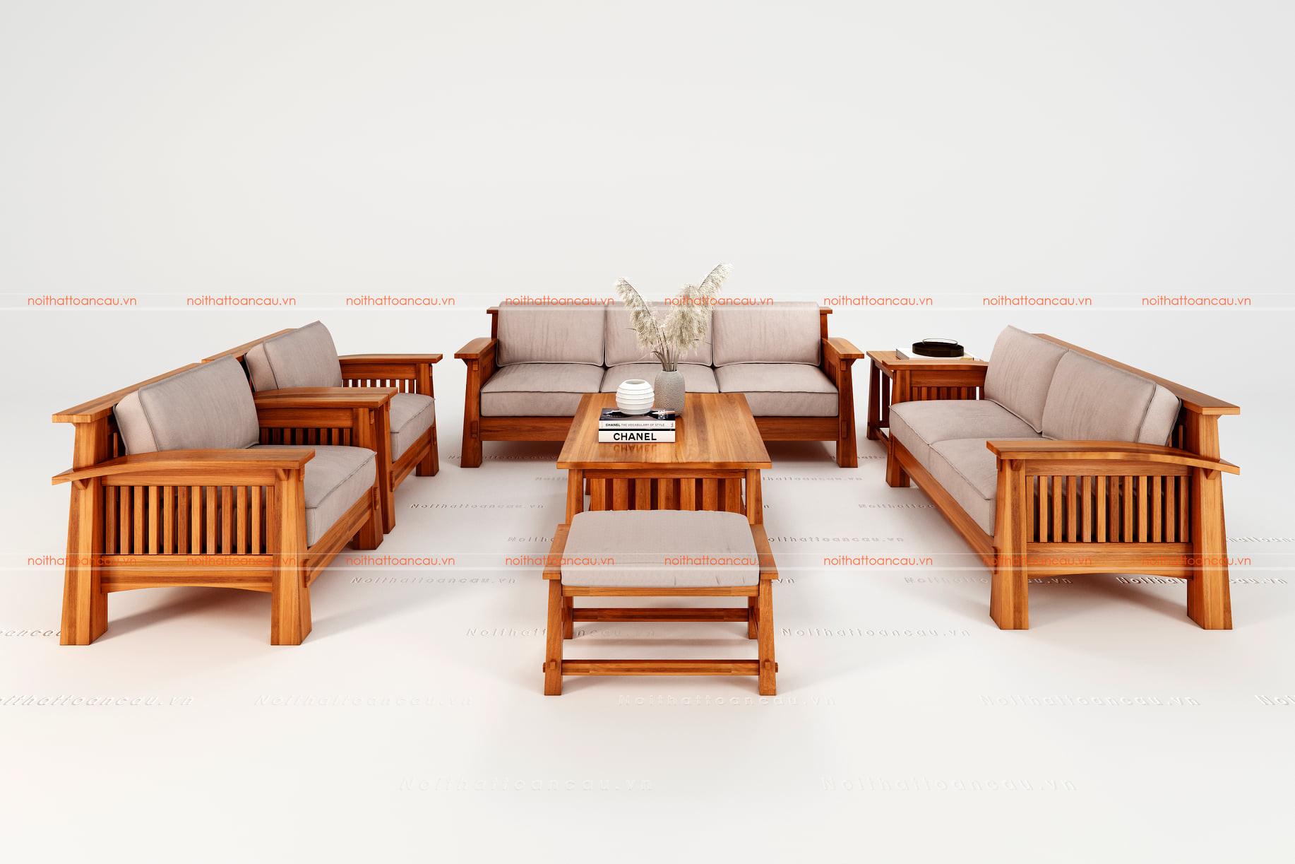 Bàn ghế gỗ gõ đỏ 18