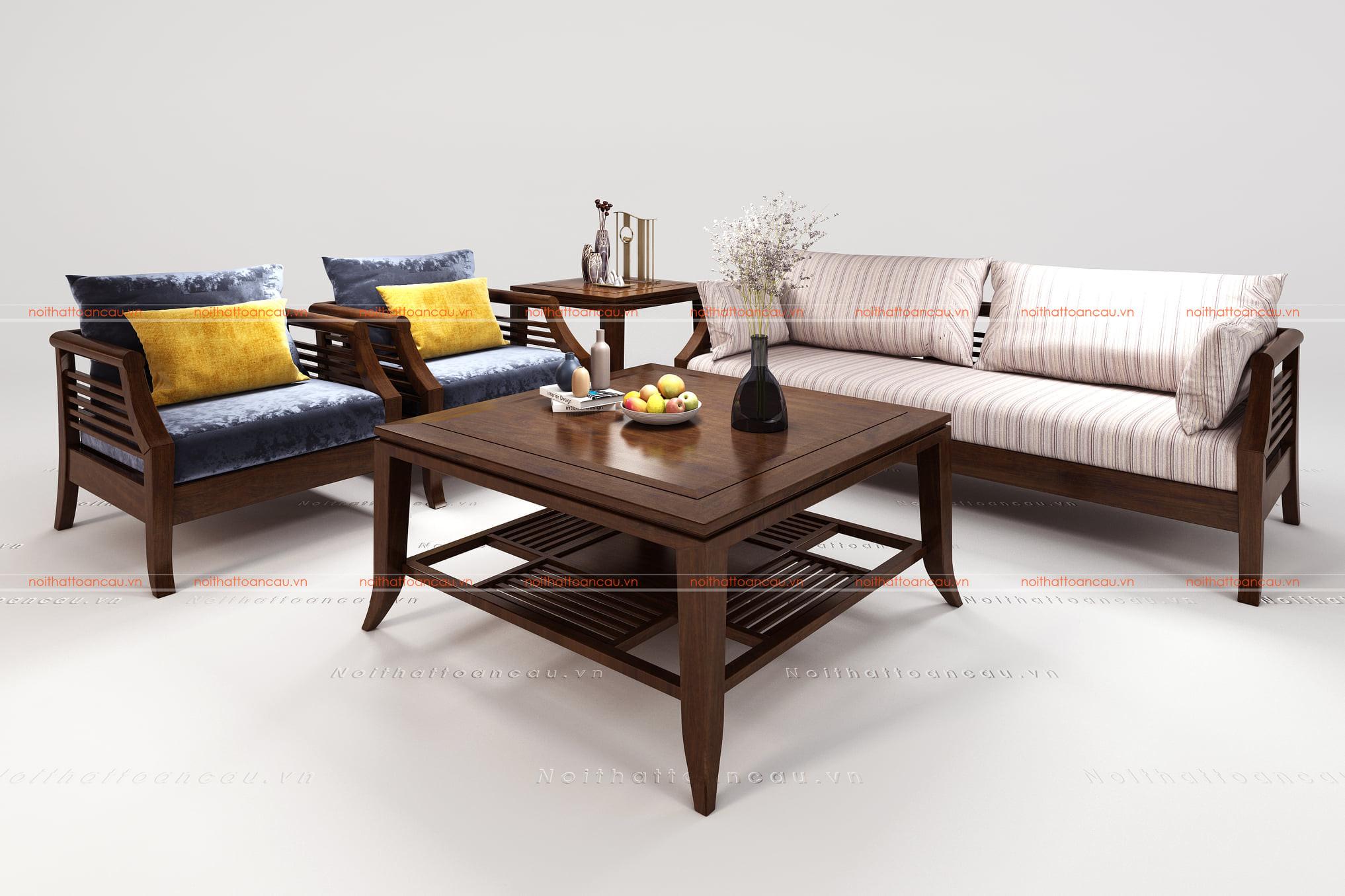 Bàn ghế gỗ gụ hiện đại